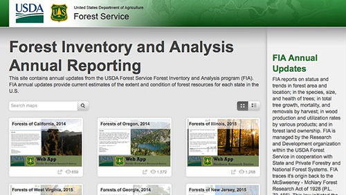 Forest Inventory Analysis Annual Reporting Story Map