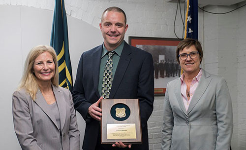 Emilee P. Blount, Director, Engineering, Technology and Geospatial Services, Jason Anderson and Lenise Lago, Deputy Chief, Business Operations.