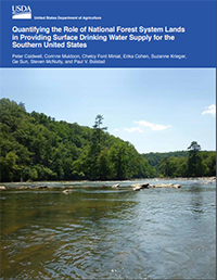 Quantifying the role of National Forest system lands in providing surface drinking water supply for the Southern United States